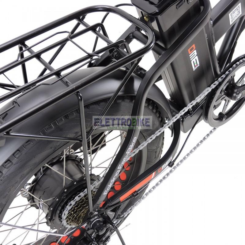 Vulcano V242 500w Fat Bike Pieghevole Bicicletta Elettrica Pedalata